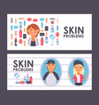 skin care banner vector image vector image