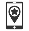 smartphone map pointer flat icon vector image vector image