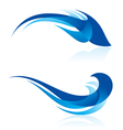Smooth abstract forms in blue vector image vector image
