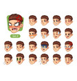 the second set of male facial emotions vector image vector image