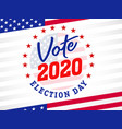 vote 2020 presidential election usa emblem banner vector image