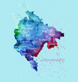 watercolor map easter island with cities vector image vector image