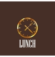 with lunch time icon vector image vector image