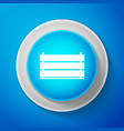 wooden box icon isolated on blue background vector image