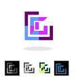 Abstract company logo and apps icon vector image