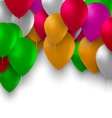Birthday Background with Colorful Balloons for vector image