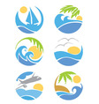 set icons - travel and vacation vector image