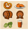 some beer line color icons vector image