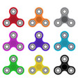 colorful hand spinner toys vector image