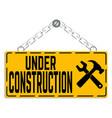 under construction backgrouind vector image
