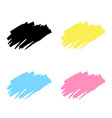 abstract hand drawn painted black paint ink brush vector image vector image