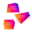 abstract speed geometric origami banner vector image vector image