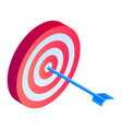 arch target icon isometric style vector image