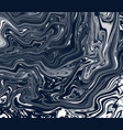 artistic painted black waves dark vector image vector image