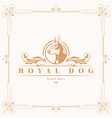 basic rgbluxury gold royal dog logo template vector image vector image