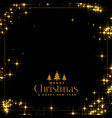 beautiful sparkles background with text space vector image vector image