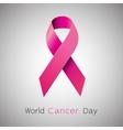 Cancer Awareness pink Ribbon vector image
