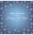 Christmas New Year card abstract snowflakes vector image