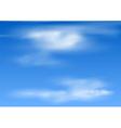 clouds in sky vector image vector image