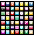 Colorful icons for mobile and web vector image vector image