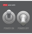 Cool realistic toggle switch grey color vector | Price: 1 Credit (USD $1)