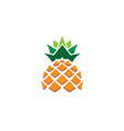 creative geometric pineapple fruit logo vector image