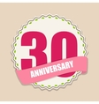 Cute Template 30 Years Anniversary Sign