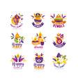 diwali logo design set hindu festival lights vector image vector image