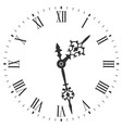 elegant clock face with roman numerals and tick vector image vector image