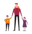 family consisting of father and children male vector image vector image