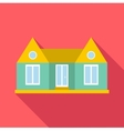 Family house icon flat style vector image