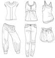 fashion skech trend print women girl design vector image vector image