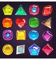 Flash Game Jewel Set vector image vector image