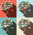 Flat Design Trees Set vector image vector image