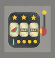 flat shading style icon slot machine vector image vector image