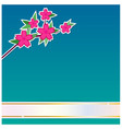 flower with ribbon background vector image vector image