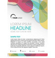 flyer with color element vector image
