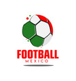 football mexico logo template design vector image vector image