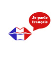 French Flag Lips vector image vector image