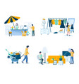 garage sale composition set isolated vector image