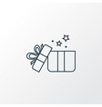 gifts icon line symbol premium quality isolated vector image vector image