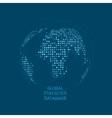 Global statistics database unusual dot vector image