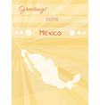 greetings from mexico vector image vector image