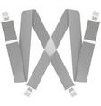 grey suspenders vector image vector image