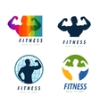 gym logo design template health or fitness vector image