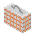hand close basket icon isometric style vector image