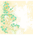 Hand drawn background with forget-me-not flowers vector image