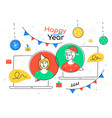 happy new year 2021 - flat design style vector image vector image