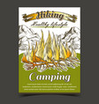 hiking camping adventure advertise banner vector image vector image