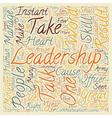 Instant Leadership Talks text background wordcloud vector image vector image